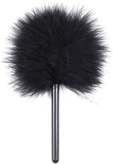 BESTOYARD Flirt Tease Tickle Feather Stick Exotic Toys Adult Game Role Play Toys for Couples (Black)