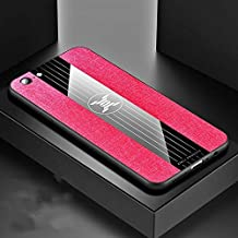 QFH For OPPO A57 Stitching Cloth Textue Shockproof TPU Protective Case(Black) new style phone case (Color : Red)