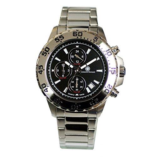 Constantin Durmont CD-QZ-BALT-QZ-ST-STST-BK - Reloj de Pulsera Hombre, Acero Inoxidable, Color Plateado