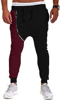 Men Harem Pant, Molyveva Casual Hip Hop Autumn Winter Cotton Zipper Jog Trouser