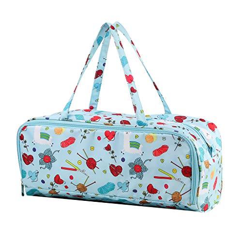 FUNCOCO Bolsa de almacenamiento para tejer, bolsa de tejer para manualidades, organizador de...