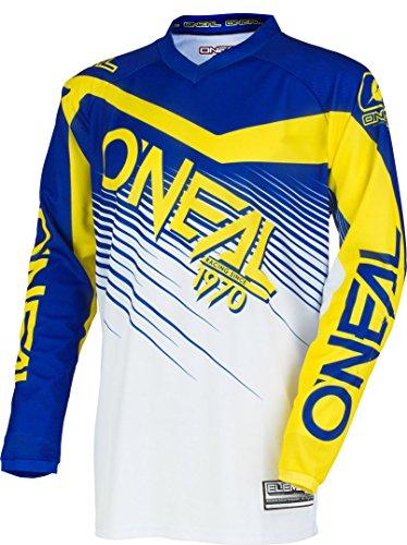 O'NEAL Element Racewear FR Youth Kinder Jersey Trikot lang blau/weiß/gelb 2018 Oneal: Größe: L (140-152)
