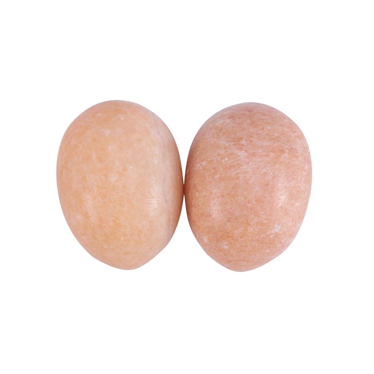 パーツ送ったウェブHealifty 6PCS玉ヨニ卵マッサージ癒しの石のケゲル運動骨盤底筋運動(日没赤)