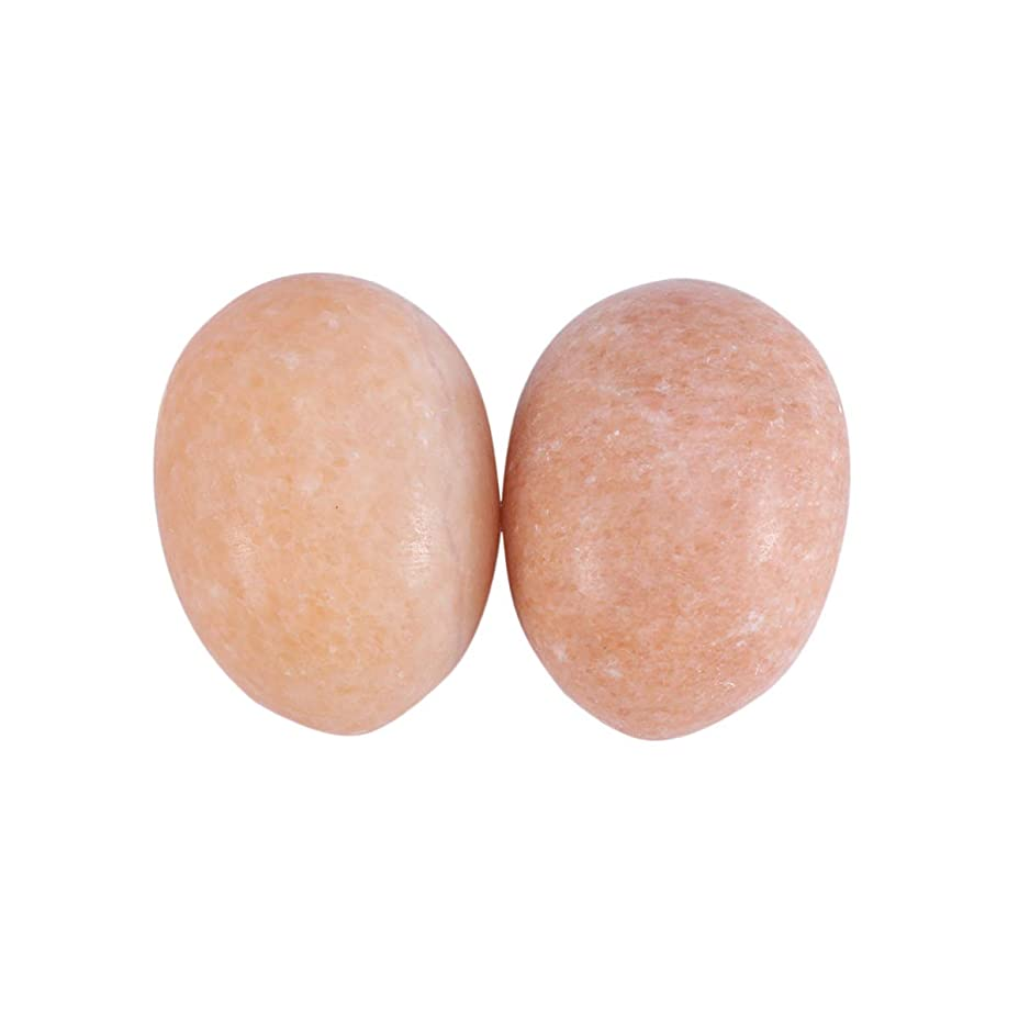 足懐疑論ダーリンHealifty 6PCS玉ヨニ卵マッサージ癒しの石のケゲル運動骨盤底筋運動(日没赤)