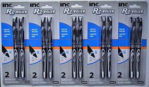 Inc. R-2 Roller Ball Pens, Black (5 packs of 2, 10 ct.)