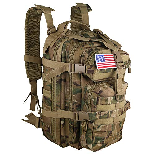 Small 30L Rucksack Military Tactical Backpack Flag Patch Outdoors Bug...
