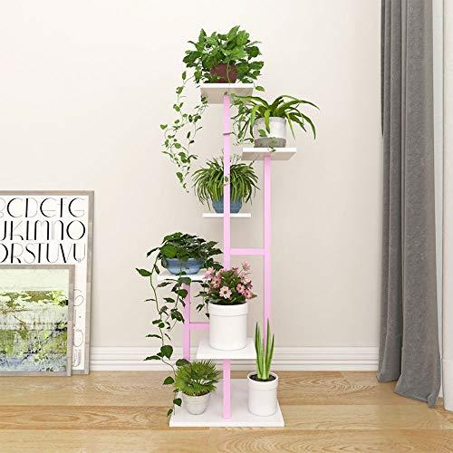 XiaoXIAO Soporte de flores, escalera de caracol, estante de decoración de plantas for el hogar multifuncional que ahorra espacio, adecuado para: sala de estar / balcón / exterior / jardín, disponible