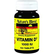 NAT B VIT D3 TB 1000IU 100 by Nature's Blend