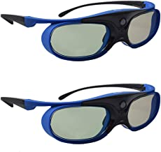 TOUMEI 3D Glasses, Active Shutter 3D DLP Link Rechargeable 3D Eyewear for Acer ViewSonic..