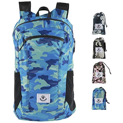 4Monster Wanderrucksack, wasserabweisend, leicht, verstaubar, für Reisen, Camping, Outdoor (Marineblau, 16 l)