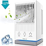 Be1 2019 New Mini Personal Air Conditioner Fan, Evaporative Air Cooler for Desktop Cooling, USB Table Fan with...