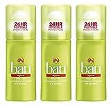 Ban Roll-On Antiperspirant Deodorant, Regular, 1.5 Ounce (3 Pack)