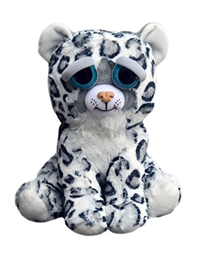 William Mark Corp Feisty Pets: Lethal Lena- Adorable 8.5'' Plush Stuffed Snow Leopard that Turns Feisty with a Squeeze