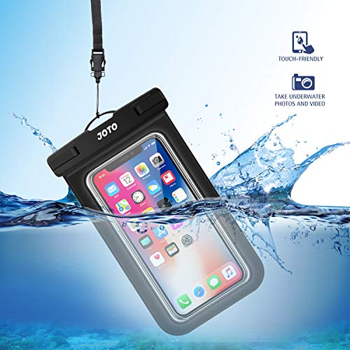 JOTO Universal Waterproof Pouch, IPX8 Waterproof Cellphone Dry Bag Underwater Case for iPhone 13 Pro Max 13 Mini 12 11 Pro Max Xs Max XR X 8 7 6S, Galaxy S20 Ultra S10 up to 7