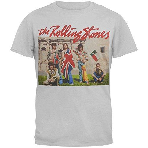 Rolling Stones - Men's Alamo Photo T-Shirt - Small Grey