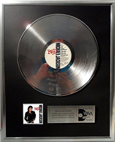 Michael Jackson BAD platin Schallplatte (goldene gold record)