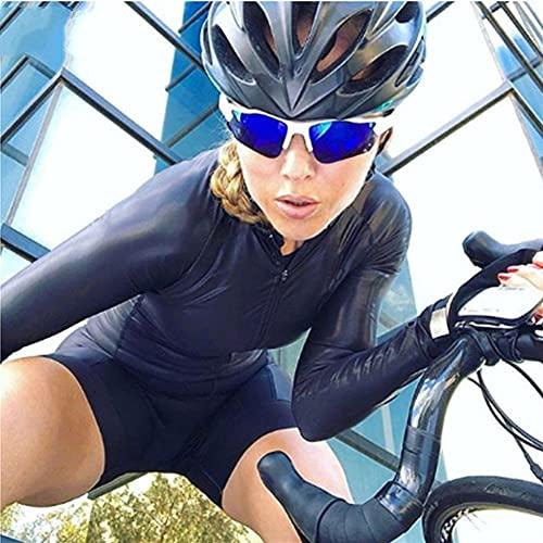 Frauen Jumpsuit Mountainbike Radfahren Kleidung Sweatshirt Triathlon Anzug (Color : 152, Size : X-SMALL 20mm)