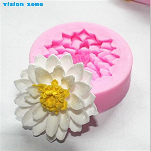 Lotus FlowerFondant Cake Mold Moule Silicone Soap Chocolate Mould for Kitchen Baking Cake