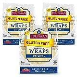 Toufayan Bakery, Plain Original Gluten Free Wraps for Sandwiches, Tortillas, Burritos and Snacks, Gluten Free, Cholesterol Free and No Trans Fats (Original, 3 Pack)