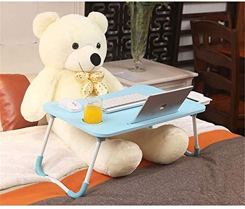 AOIWE Escritorio para ordenador portátil ajustable nueva cama antigua de mesa del ordenador, mesa pequeña Dormitorio Pigger Estudiante Plegable Estudio Mesa de comedor para niños