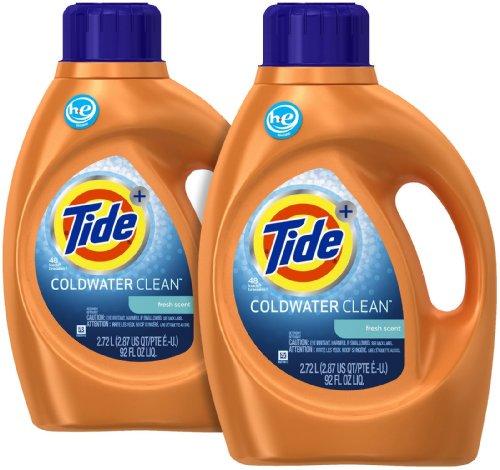 Tide Coldwater Clean High Efficiency Liquid Laundry Detergent - 92 oz - Fresh - 2 pk