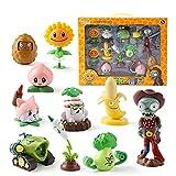 11Pcs / Set Plantas genuino contra los regalos del zombi 2 catapulta juguetes de goma suave animado Figura mesa juego de batallas Modelo muñecas de los niños