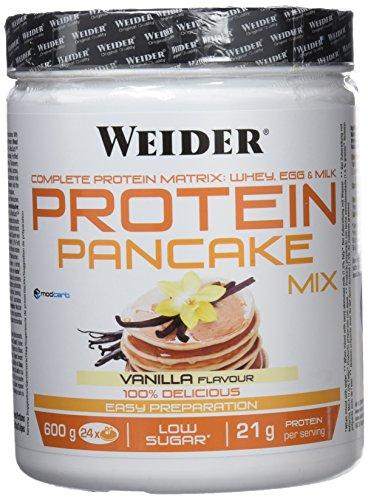 Weider Protein Pancake Mix Vainilla. Tortitas de harina de avena integral, enriquecidas con proteinas. Sabor Vainilla - 600 gr