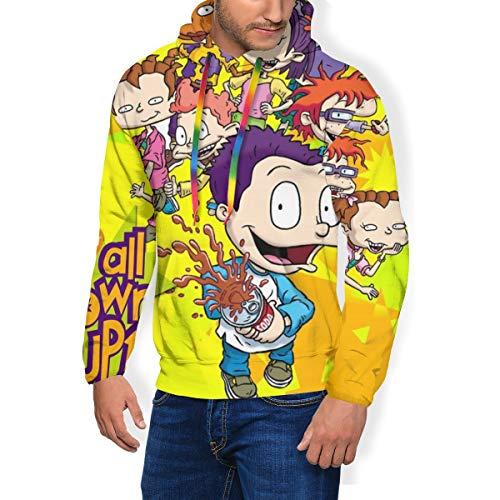 Gary Katte Ru-gra-ts Tv Show Men's Long Sleeve 3D Digital Print Pullover Hoodie Sweatshirt XL Black