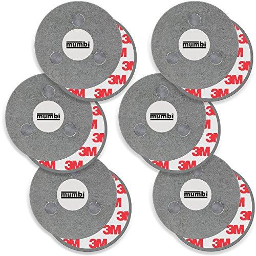 mumbi 6er Set Magnetbefestigung für Rauchmelder Magnet Befestigung für glatte Flächen (NICHT für Rauhfaser oder losen Putz)