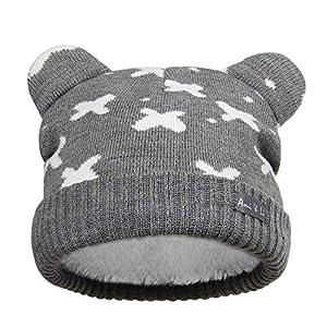 Ami&Li tots Infant Baby Boys Girls Kids Ultra Comfortable Knit Winter Beanie Hat with Cute Fancy Ears Winter Hat