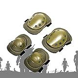 HKD 4ps Codo y Rodilleras duras almohadilladas Profesionales Juego de Almohadillas Protectoras tácticas para Seguridad en Deportes ( Color : A )