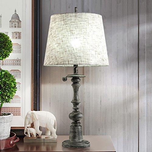 CJH Bureaulamp met hars, lampenkap, voor bruiloft, kamer, slaapkamer, woonkamer, bedlampje, stekker en trekker, verlichting