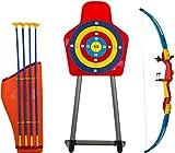 Savage Island Set tiro con L'Arco per Bambini con Arco, frecce, Supporto e Bersaglio