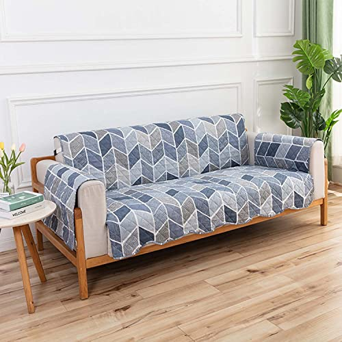 Thicken Fundas de sofá impermeables para mascotas,perros,funda de sofá reversibles,protectores de sofá con correas elásticas,funda de sofá y funda de sofá de dos plazas, azul(Color:Blue-B,Size:1