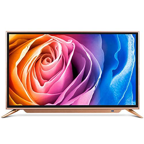 ZZYH 43-Inch TV (1920x1080 HD LED TV, 64-bit Processor 1G+4G, High-Strength Black Crystal Tempered Panel, Mobile Phone Projection Function, Smart Television)