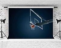 HDバスケットボールの背景バスケットボールの恋人の壁紙のバスケットボールコートの写真の背景写真スタジオの小道具7X5ftFSLX116