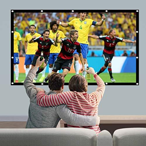 QYY QYProjection linnen gordijn, eenvoudige projectie, micro-projector, canvas, 120 inch (16:9) Projectiebereik: 26,6 x 149,4 cm