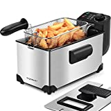 Aigostar Ushas 30HEZ - Fryer in stainless steel type 304. 2200W, capacity of 3L. Removable bowl for emptying the oil. 100% BPA free with large viewing window. Exclusive design.