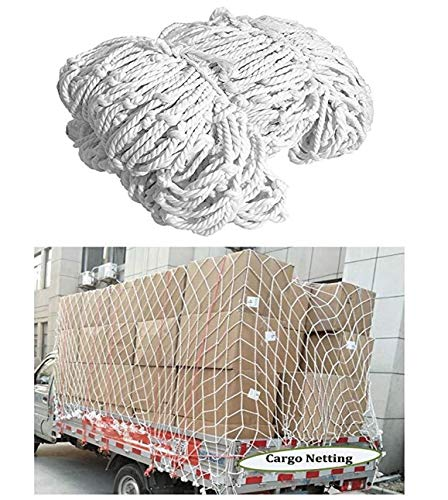 STTHOME Child Safety Net Protection Climbing Frames Trailer nets Container network Overlay network, For fixing load cargo -2 * 4m, white, Multi-size (Size : 2 * 4M(7 * 13ft))
