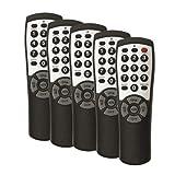 5-pack Brightstar BR100B Universal TV Remote