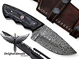 onlyhandmade 7.75' Beautiful Damascus Knife Made of Remarkable Damascus Steel and Exotic Wood -Its A...