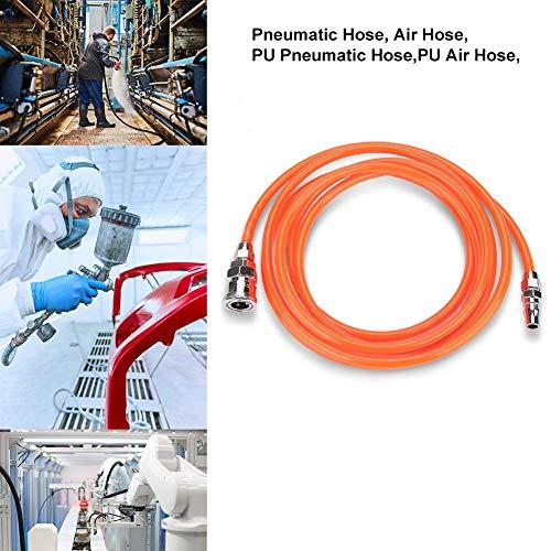 Pneumatischer Schlauch, Druckluftschlauch, flexibler Hochdruckluftschlauch, mit 1/4-Zoll-Stecker/Buchse(3m)