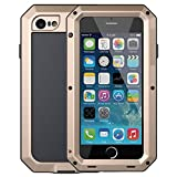 Mangix iPhone 6 Plus/6S Plus Case, Gorilla Glass Aluminum Alloy Metal Extreme Bumper Finger Scanner Cover Shell Case for Apple iPhone 6 Plus/6S Plus 5.5inch(Gold)