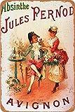 AIFEI Absinthe -BLANQUI Art Poster Zinn Wandschild Plakette