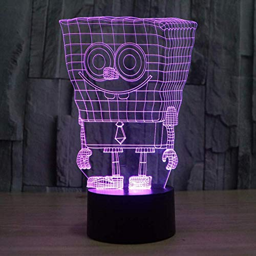 LED Night Light with Cute Sponge Baby Pattern,7 Colors Changing with USB Cable,Touch Remote Control, Best for Children Gift Baby Bedroom and Party Decorations.