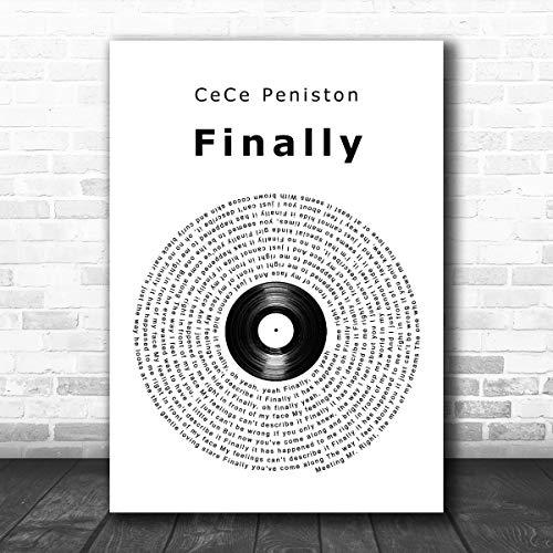 KeyanShire #CeCe #Peniston #Finally Vinyl Record - Póster con cita de letra...