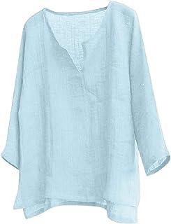HX fashion Camisa De Manga Larga Hombre Para Camisa Casual De Tamaños Cómodos Color Liso Camisa Slim Fit Camisa De Lino De...