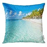 Riviera Maya Paradise Playas en Quintana Roo México Caribe Costa Tropical Destino para Vacaciones Funda de cojín 45 cm x 45 cm Home Decor Throw fundas de almohada para sofá adolescente niñas