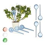 Relaxdays 8 x Bewässerungskugeln im Set, Dosierte Bewässerung, 2 Wochen, Versenkbar, Deko,...
