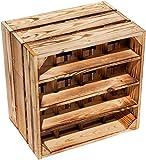 Kistenkolli Altes Land geflammtes Weinregal 16er Maße 40x40x27cm Regalkiste Flaschenablage Weinregal Apfelkiste/Weinkiste (1er Set 16er geflammt)